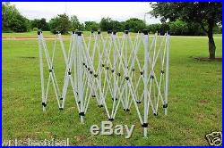 10'x20' Pop Up Canopy Party Tent EZ Red Stripe F Model Upgraded Frame