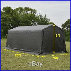 10'x20'x8' FT Storage Shed Logic Tent Shelter Car Garage Steel Carport Canopy