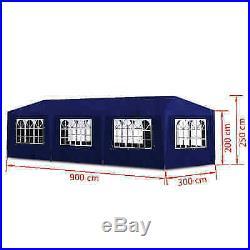 10'x30' Outdoor Canopy Party Wedding Tent Heavy duty Gazebo garden barbecue Blue