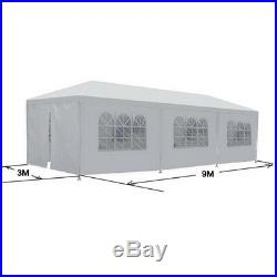 10'x30' Outdoor Canopy Party Wedding Tent White Pavilion 8 Removable Walls -8