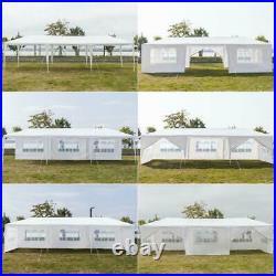 10'x30' Upgrade Spiral Tube Canopy Party Wedding Tent Gazebo Pavilion 8 Walls