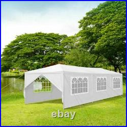 10'x30' Wedding Party Tent 8 Sides Awning Canopy Gazebo Outdoor Waterproof White