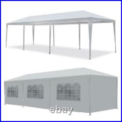 10'x30' White Outdoor Gazebo Canopy Wedding Party Tent 8 Removable Walls 8 US