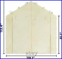 10X20 Garage Tent Carport Car Shelter Sidewall Canopy Caravan Cover Enclosure