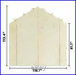 10X20 Garage Tent Carport Car Shelter Sidewall Kit Canopy Cover Enclosure Tan