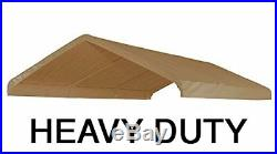10X20 Heavy Duty Beige Canopy Top Cover Replacement Roof for Carport Car Shelter