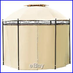 10ft Round Outdoor Gazebo Canopy Shelter Awning Tent Patio Garden New