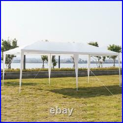 10x 20ft Heavy Duty Party Tent PE Gazebo Wedding Canopy with6 Removable Wall White