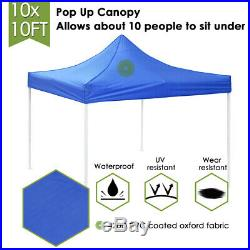 10x10' Commercial EZ Pop Up Canopy Outdoor Patio Wedding Party Tent Shelter