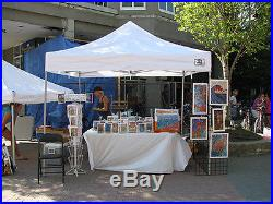 10x10 EZ Pop Up Canopy Tent Instant Canopy Tent Gazebo with Weight Bags White