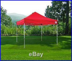 10x10 EZ Pop Up Canopy Tent Instant Shelter Tent Beach Gazebo Party Shade Red