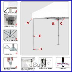 10x10 Ez Pop Up Canopy Trade Show Patio Gazebo Tent+4 Side Walls + Weight Bags