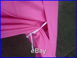 10x10 FT EZ POP UP CANOPY PARTY GAZEBO TENT INSTANT SETUP with 6 WALLS SIDES Pink