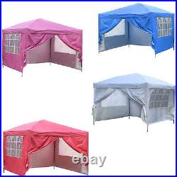 10x10 FT Pop up Canopy Tent Instant Folding Shelter with 4 Removable Sidewalls