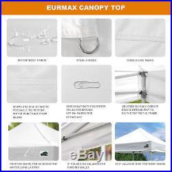 10x10 White Commercial EZ Pop Up Canopy Event Outdoor Gazebo Vendor Shelter Tent