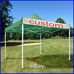 10x10ft Pop Up Canopy Folding Gazebo Tent 420D Campus Shelter with Carry Bag