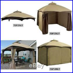 10x12 Feet Gazebo Replacement Canopy UV-protected Water-repellent Outdoor Biege