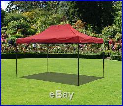 10x15 Canopy Fair Shelter Car Shelter Wedding Pop Up Tent Heavy Duty Steel