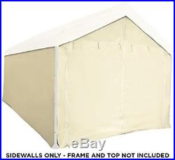 10x20 Canopy Kit Side Wall Tent Carport Shelter Portable Cover Enclosure Tan NEW