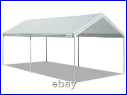 10x20 Carport Shelter Canopy Portable Outdoor Party Tent Heavy Duty Steel, White