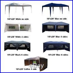10x20 EZ Pop UP Wedding Party Tent Folding Gazebo Canopy Heavy Duty/ Carry Case