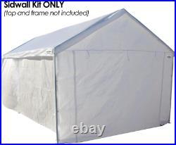 10x20 Garage Side Wall Kit only Canopy Car Shelter Big Tent Parking Carport