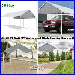 10x20 Grey Gazebo Garage Car Shelter Heavy Duty Outdoor Canopy Steel Frame Tent