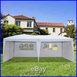 10x20 Pop up Sun Canopy Gazebo Wedding Party Tent Outdoor Garden Shelter White
