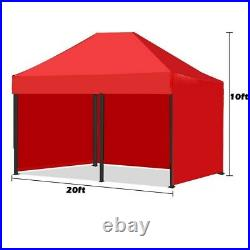 10x20' Portable Pop Up Canopy Event Tent Folding Waterproof Gazebo Outdoor Shade
