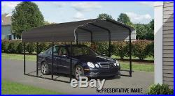 10x20x7 Arrow ShelterLogic Metal Carport CPHC102007 Wind & Snow Rated Charcoal