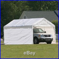 10x20x8 ShelterLogic 8 Leg Commercial Grade Canopy With Enclosure Kit 23572