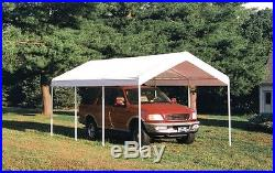 10x20x9'6 ShelterLogic Replacement Canopy Top Cover for 2 Frame White 11072