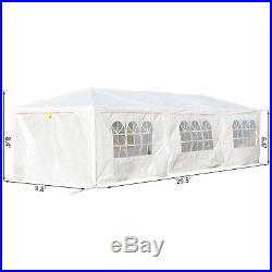 10x30ft Gazebo Canopy Outdoor Event Shelter Portable Garden White