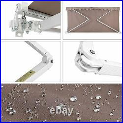 10x8FT Outdoor Patio Manual Retractable Window Patio Awning Canopy Sun Shelter