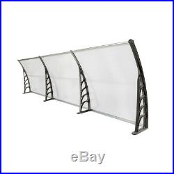 118 x 39'' Window Awning Outdoor Polycarbonate Front Door Patio Cover Canopy