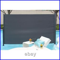 118x71 Patio Retractable Side Awning Wind Screen Privacy Shade Outdoor Garden