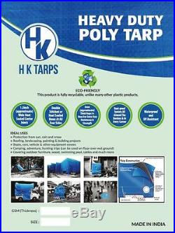 12 Mil Heavy Duty Poly Tarp 200 GSM All Purpose Canopy Reinforced Tarpaulin Slv
