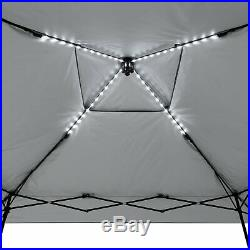 12 X 12 Lighted Instant Canopy Pop Up Tent Umbrella Outdoor Patio Camping Event