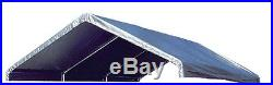 12 X 30 Heavy Duty 12 mil Valance Replacement Canopy Tarp Carport Cover -Silver