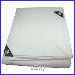 12 mil Heavy Duty Canopy Tarp White Tent Car Boat Cover 12 ft x 20 ft and more