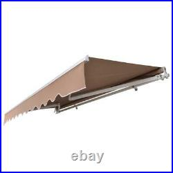 12' x 10' Manual Retractable Sun Shade Shelter Outdoor Patio Awning Canopy