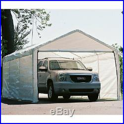 12' x 20' White Canopy Enclosure Sunshade Car Protector Weather Cover Tent Van