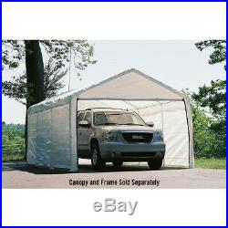 12 x 20 in Enclosure Kit Garage Canopy Outdoor Car Port Shelter Awning White