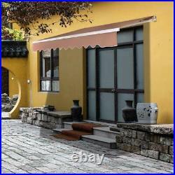 12x10 Patio Awning Retractable SunShade Outdoor Canopy Sun Setter + Crank Handle