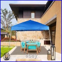 12x12ft Gazebo Tent Sun Shade Pop Up Folding Portable UV-Block Awning Blue