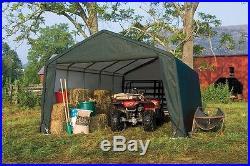 12x20x8 Peak ShelterLogic Shelter Portable Garage Carport Canopy Instant 71434
