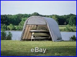 12x20x8 Round ShelterLogic Shelter Portable Garage Carport Canopy Instant 71332