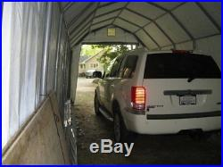 12x24x11 Barn ShelterLogic Shelter Portable Garage Carport Canopy Instant 92153
