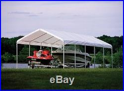 12x30 ShelterLogic Canopy 12 Leg Commercial Grade Carport Party Tent White 25767