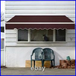 13'×18' Retractable Patio Awning Aluminum Deck Sunshade Shelter Waterproof Out